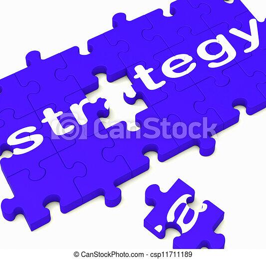 Signos estratégicos que muestran soluciones empresariales - csp11711189