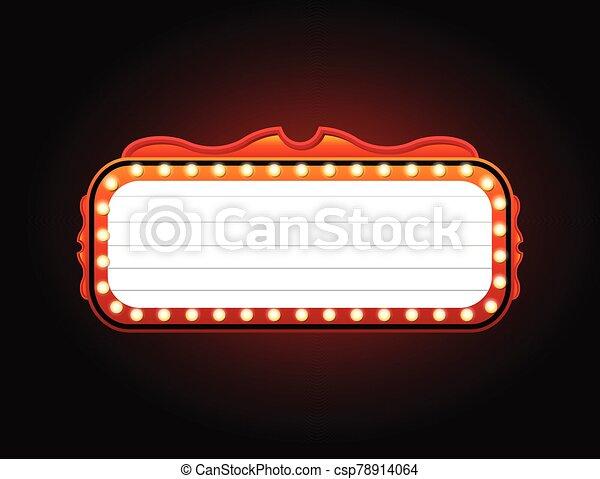 señal, espacio, casino, dorado, copia, bandera - csp78914064