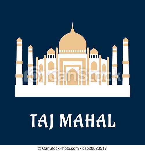 Taj Mahal famoso monumento indio - csp28823517
