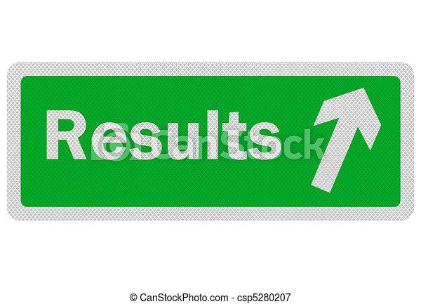 """Señal de """"resultos"""" realistas, aislada en blanco - csp5280207"""