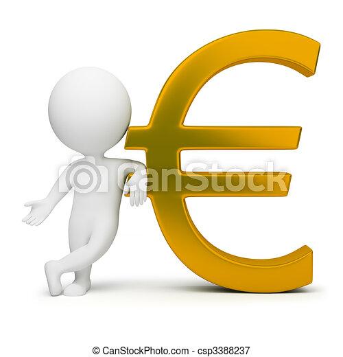 Tercera gente, signo del euro - csp3388237