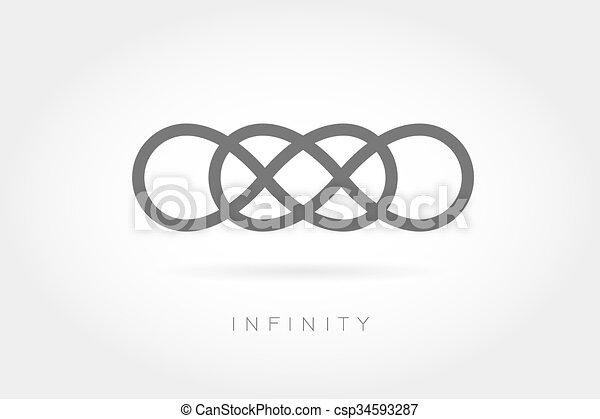 Icono ilimitado. Simple signo matemático - csp34593287