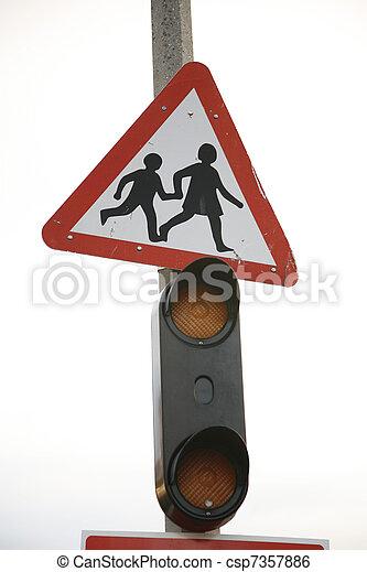Signo de ruta, despacio - csp7357886