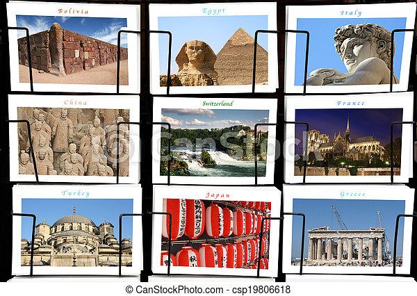 Collage de monumentos - csp19806618