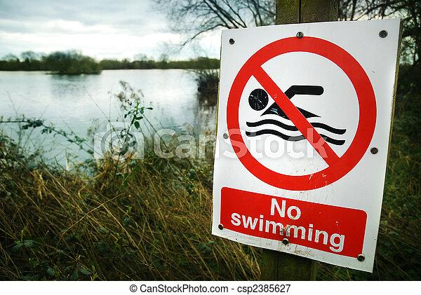 No hay señal de natación - csp2385627