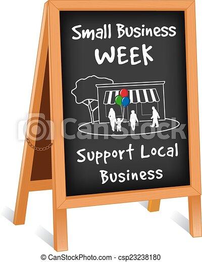 Firma, pequeño caballete semanal de negocios - csp23238180