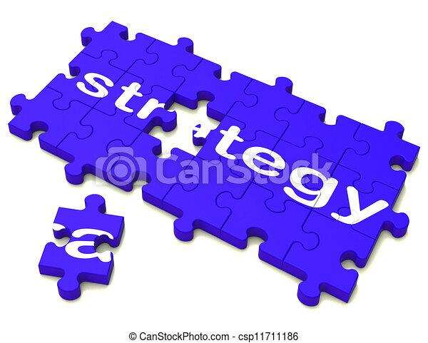 Signos estratégicos que muestran planificación y tácticas - csp11711186