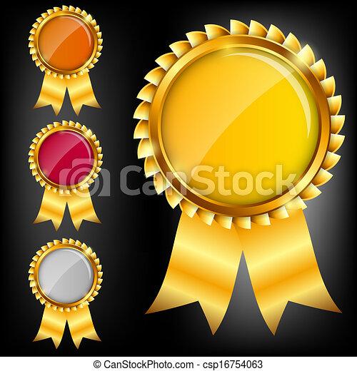 Señal de oro vector, plantilla de etiqueta - csp16754063