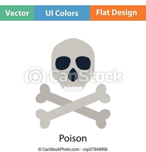 icono de signo venenoso - csp37949956