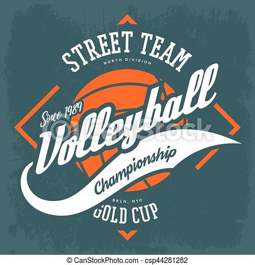 Señal de voleibol deportivo, diseño de camiseta - csp44281282