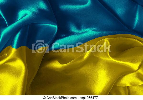 Bandera ucraniana - csp19864771