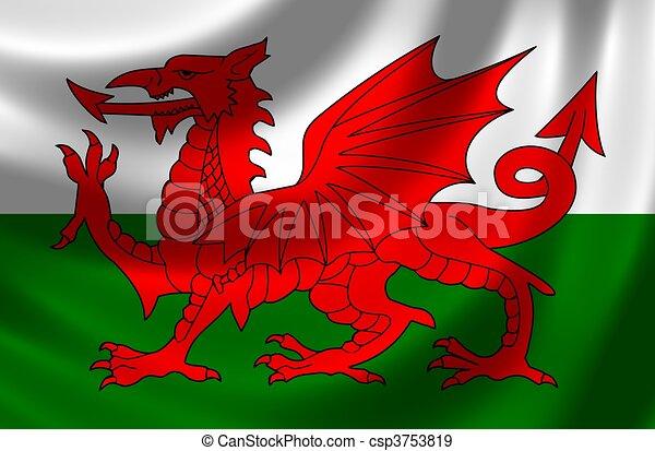 Bandera de Gales - csp3753819