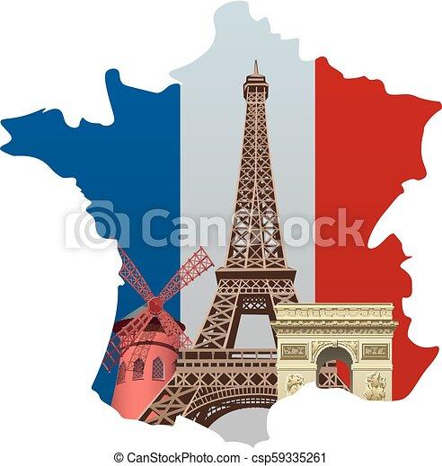 Marcas de Francia - csp59335261