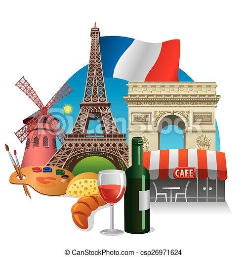Puntos de referencia de Francia - csp26971624