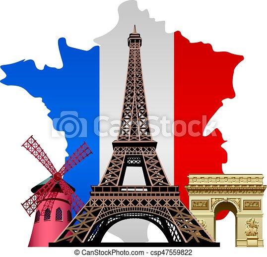 Marcas de Francia - csp47559822