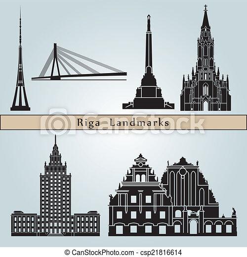 Puntos de referencia Riga - csp21816614