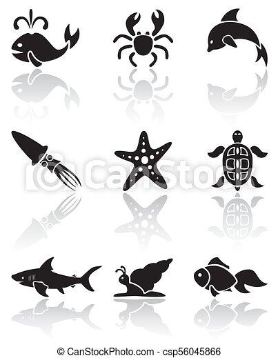 Sea animals icons - csp56045866