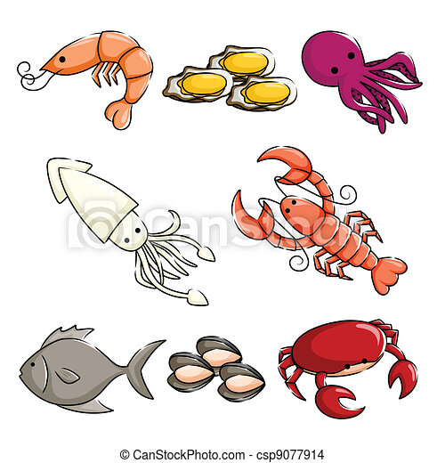 Sea animals icons - csp9077914