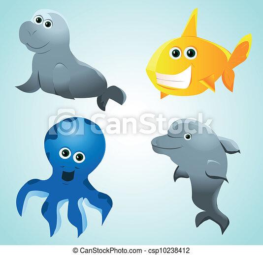 sea animals - csp10238412