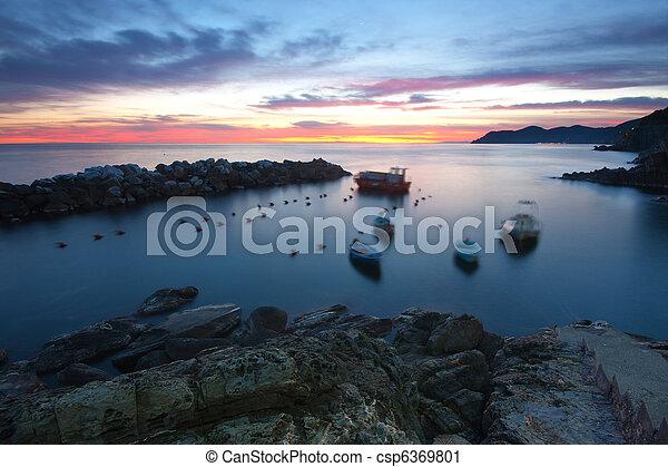 Sea at dusk - csp6369801