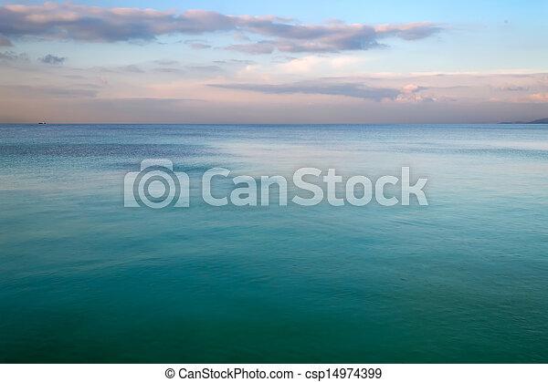 sea at sunset - csp14974399