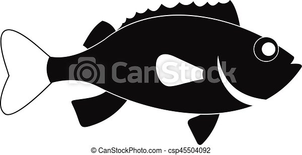 Line Art Illustration Style : Sea bass fish icon simple style. icon. eps