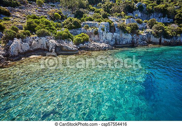 Sea beach in Turkey. - csp57554416