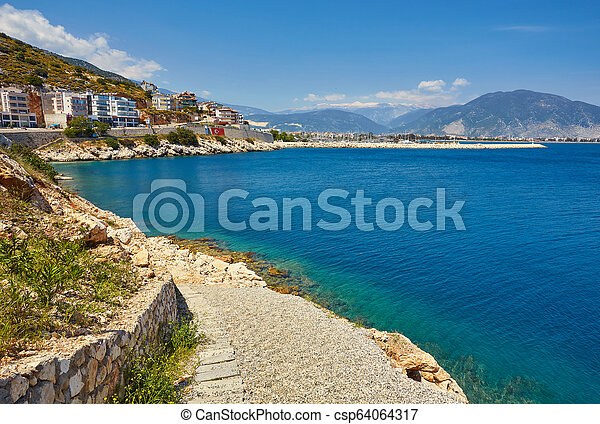 Sea beach in Turkey. - csp64064317