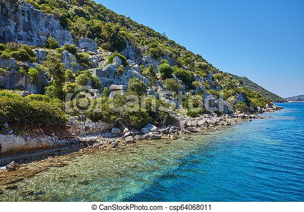 Sea beach in Turkey. - csp64068011
