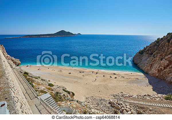 Sea beach in Turkey. - csp64068814