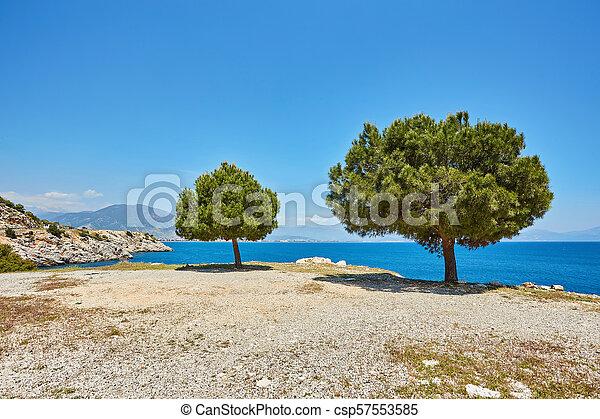 Sea beach in Turkey. - csp57553585