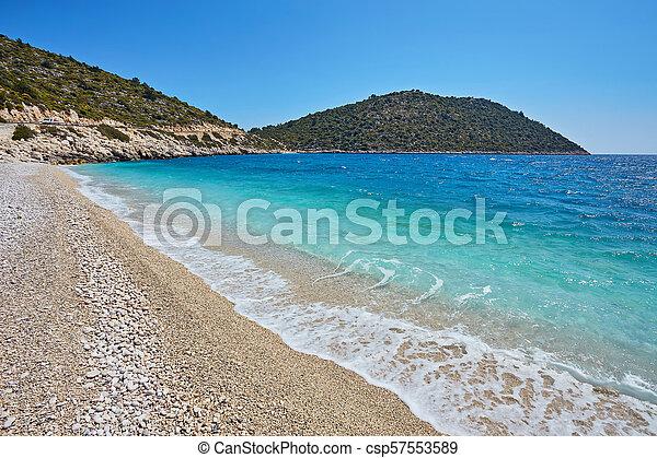 Sea beach in Turkey. - csp57553589
