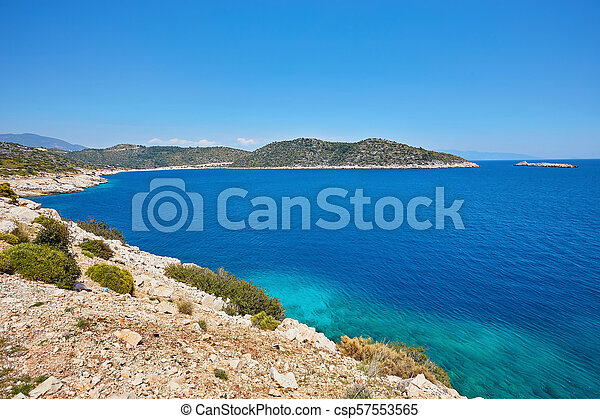 Sea beach in Turkey. - csp57553565