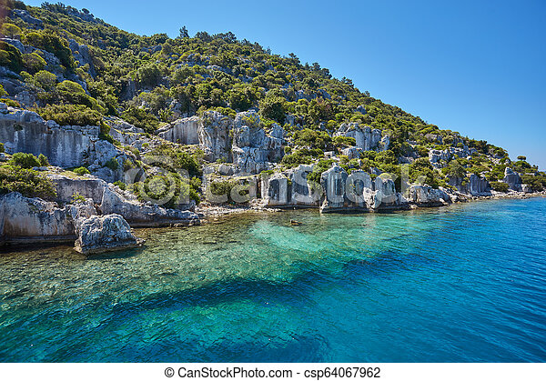 Sea beach in Turkey. - csp64067962