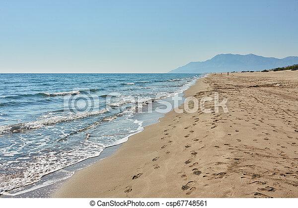 Sea beach in Turkey. - csp67748561