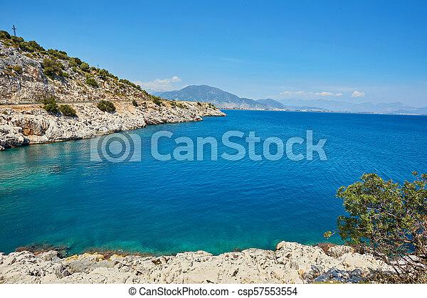 Sea beach in Turkey. - csp57553554