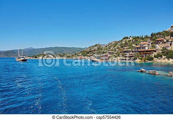 Sea beach in Turkey. - csp57554426