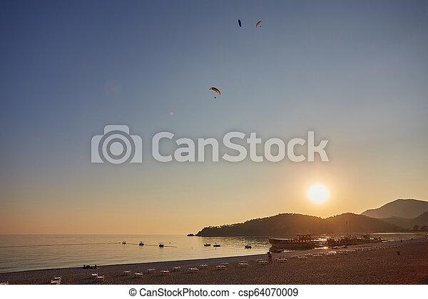 Sea beach in Turkey. - csp64070009