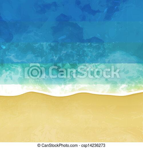 sea beach vector background - csp14236273