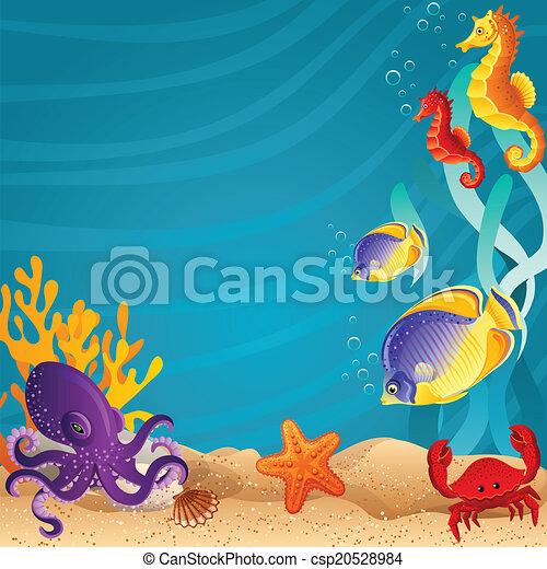 Sea bottom - csp20528984