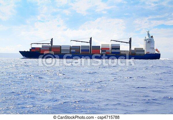 sea cargo merchant ship sailing blue ocean - csp4715788