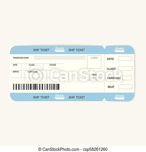 sea cruise ship boarding pass or ticket template sea travel cruise