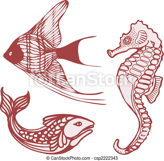 sea fish seahorse stock illustration