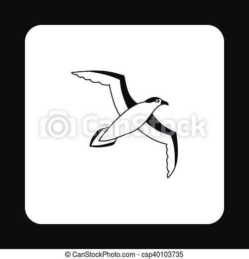 Sea gull icon in simple style - csp40103735