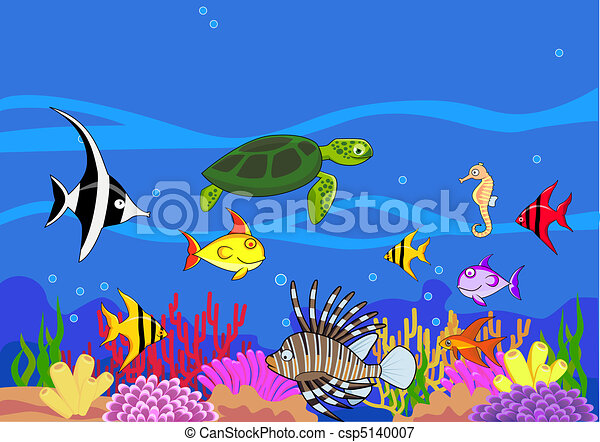vector beautiful sea life vectors illustration search clipart rh canstockphoto com Ocean Clip Art ocean life clipart black and white