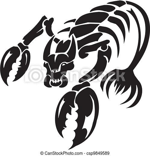 Sea Monster - vector illustration. Vinyl-ready. - csp9849589