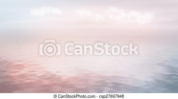 Sea Ocean Vector Background - csp27697948