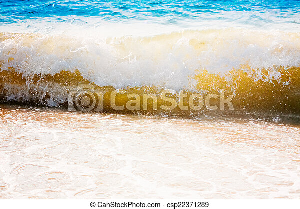 Sea Ocean Waves, Abstract Splash Vacation Background - csp22371289