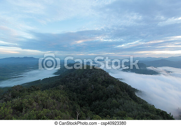 sea of mist in the morning time - csp40923380