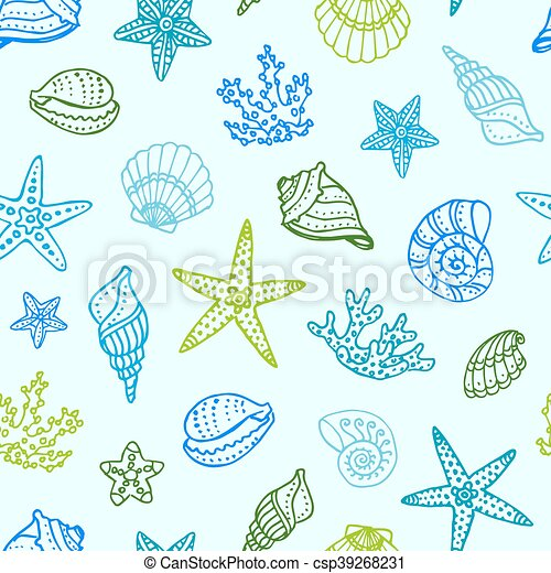 Sea seamless pattern - csp39268231